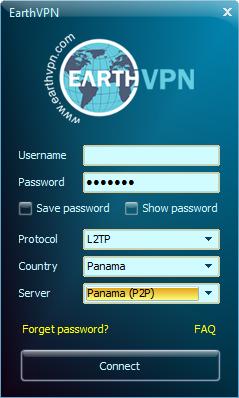 EarthVPN P2P