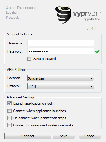 VyprVPN Interface