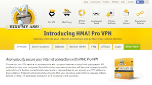 HideMyAss VPN Homepage
