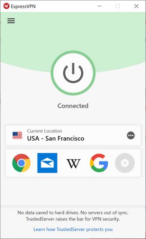 ExpressVPN - User Interface