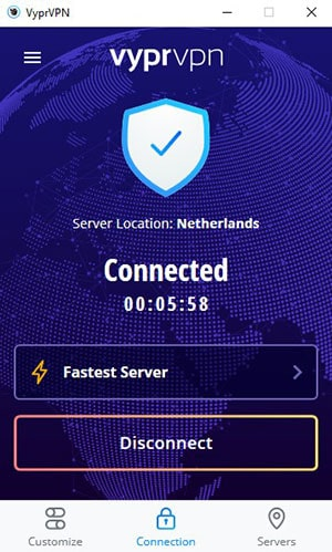 VyprVPN - Interface